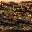 Native gold mineral - Stock Photo
