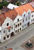 Renaissance buildings in Slavonice — Stock Photo
