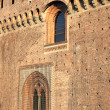 Fortified walls of Sforzesco castle in Milan — Stock Photo