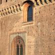 Fortified walls of Sforzesco castle in Milan — Stock Photo