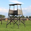 Stock Photo: Sentry box at Auschwitz Birkenau