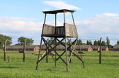 будке в аушвиц-биркенау — Стоковое фото