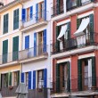 Colourful houses in Palma de Mallorca — Stock Photo