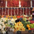 Stock Photo: Fruits and vegetables at market stall