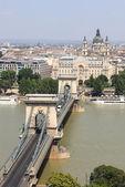 цепной мост в будапеште — Стоковое фото