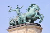 Allegorical statue of War — Stock Photo