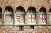 Emblems in Palazzo Vecchio of Florence — Stock Photo