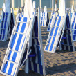 Closed deckchairs — Stock Photo #21991457