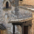 Medieval corner in Assisi - Stock Photo