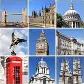 достопримечательности лондона коллаж — Стоковое фото