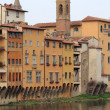 Medieval scenic in Florence - Stock Photo
