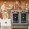 Frescoes in a Renaissance palace - Stock Photo