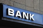 Bank sign — Stock Photo