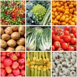 Fresh vegetables collage — Stock Photo