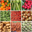 Stock Photo: Fresh vegetables collage