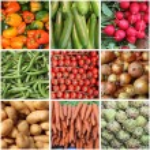 Fresh vegetables collage — Stock Photo