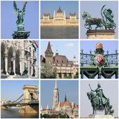 Budapest landmarks collage — Stock Photo