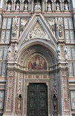 Main portal of Florence cathedral — Stock Photo