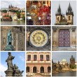 Prague landmarks collage — Stock Photo