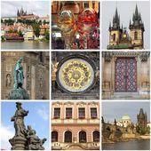 Prague landmarks collage — Stock Photo
