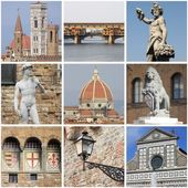 Collage de monumentos de florencia — Foto de Stock