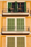 Squared windows with balcony — Stock Photo