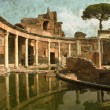 Stock Photo: VillAdriannear Rome - Vintage