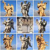 Collage van beelden van de engel — Stockfoto