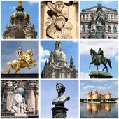 Dresden landmarks collage — Stock Photo