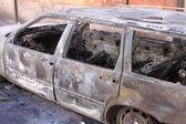 Burned car — Stock Photo