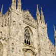 facade of milan cathedral — Stock Photo