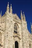 米兰大教堂的外观 — 图库照片