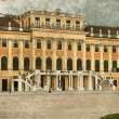 Facade of Schonbrunn Palace - Vintage - Stock Photo