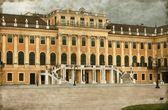 Facade of Schonbrunn Palace - Vintage — Stock Photo