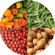 Fresh vegetables collage — Stock Photo #23967413