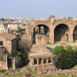 Stock Photo: House of the Vestals and the Basilica of Maxentius