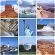 Stock Photo: USlandmarks collage