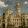 Hluboka castle - Vintage — Stock Photo