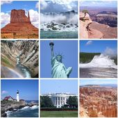 USA landmarks collage — Stock Photo
