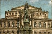Semperoper in Dresden - Vintage — Stock Photo