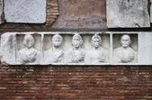 Basrelief in Appian way — Stock Photo