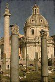 Traianus sloupců a ulpia bazilika - vinobraní — Stock fotografie
