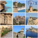 Mallorca Island landmarks collage — Stock Photo