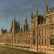 Stock Photo: Houses of Parliament in London - Vintage