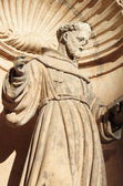 St. Francis of Assisi Statue in Palma de Mallorca — Stock Photo