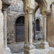 Stock Photo: Columns in medieval cloister
