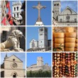 Assisi landmarks collage — Stock Photo
