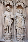 Basreliefs in Palma de Mallorca cathedral — Stock Photo