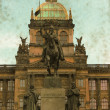 Wenceslas Square - Vintage — Stock Photo