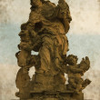 Saint Ludmila statue - Vintage — Stock Photo
